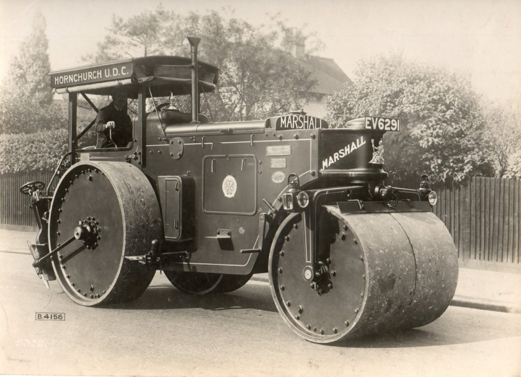 Early Marshall Diesel Road Roller